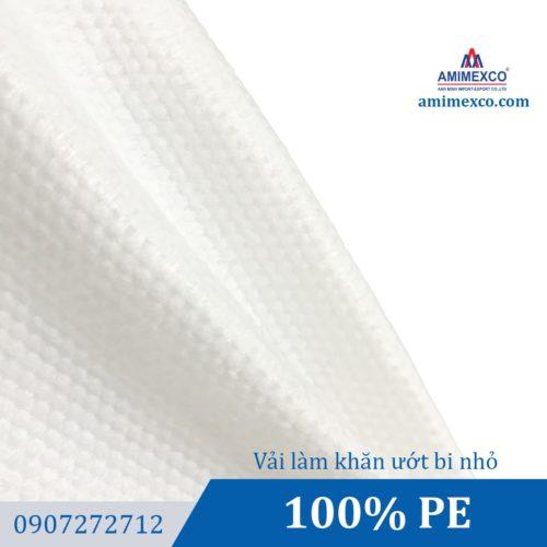 Vải làm khăn ướt bi nhỏ
