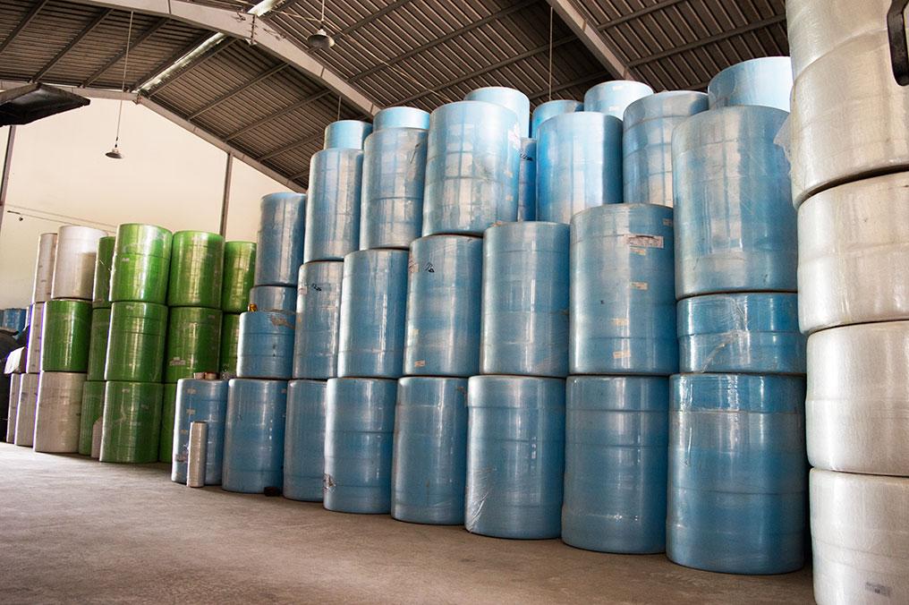 Kho chứa nguyên liệu vải không dệt tại Amimexco