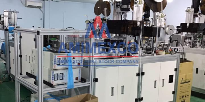Máy hàn siêu âm khẩu trang y tế tự động, thương hiệu Amimexco.